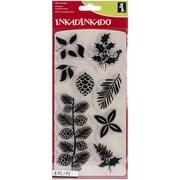 "Inkadinkado® Christmas Clear Stamps Sheet, 4"" x 8"", Holiday Decor"