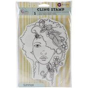 "Prima Marketing Bloom Cling Rubber Stamp, 8"" x 6"", Summer"