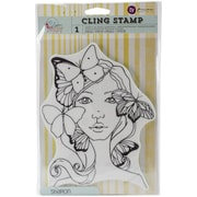 """Prima Marketing Bloom Cling Rubber Stamp, 8"""" x 6"""", Sharon"""