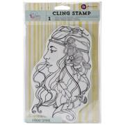 "Prima Marketing Bloom Cling Rubber Stamp, 8"" x 6"", Free Spirit"