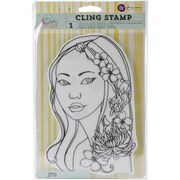 """Prima Marketing Bloom Cling Rubber Stamp, 8"""" x 6"""", Jing"""