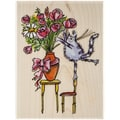 Penny Black® Mounted Rubber Stamp, 3 1/2in. x 4 1/2in., Furry Florist