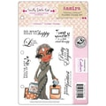 Crafter's Companion Scruffy Little Cat Cling Stamp Set, 5 1/2in. x 8 1/2in., Aamira