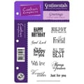 Crafter's Companion Vintage Floral EZMount Cling Stamp Set, 5 1/2in. x 8 1/2in., Greetings