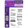 Crafter's Companion Vintage Floral EZMount Cling Stamp Set, 5 1/2in. x 8 1/2in., Phrases