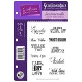 Crafter's Companion Vintage Floral EZMount Cling Stamp Set, 5 1/2in. x 8 1/2in., Sentimentals