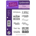 Crafter's Companion Vintage Floral Ezmount Cling Stamp Set, 5 1/2in. x 8 1/2in., Verses