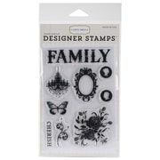 "Echo Park Paper Stamp Set, 5"" x 4"", Moments & Memories"