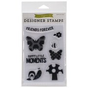 "Echo Park Paper Stamp Set, 4"" x 5 1/2"", Happy Little Moments"