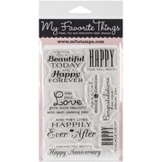 "My Favorite Things Lisa Johnson Designs Stamps Sheet, 4"" x 6"", Together Forever"