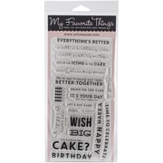 "My Favorite Things Laina Lamb Designs Stamps Sheet, 4"" x 8"", Delicious Birthday"