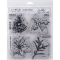 Stampers Anonymous Tim Holtz Cling Rubber Stamp Set, 7in. x 8 1/2in., Christmas Blueprint #4