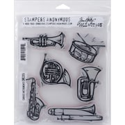 "Stampers Anonymous Tim Holtz Cling Rubber Stamp Set, 7"" x 8 1/2"", Carved Instruments"