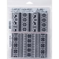 Stampers Anonymous Tim Holtz Cling Rubber Stamp Set, 7in. x 8 1/2in., Holiday Knits