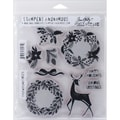 Stampers Anonymous Tim Holtz Cling Rubber Stamp Set, 7in. x 8 1/2in., Styled Woodlands