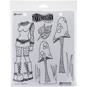 "Ranger Dyan Reaveley's Dylusions Rubber Stamps, 8 1/2"" x 7"", Shrooms"