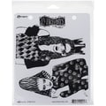 Ranger Dyan Reaveley's Dylusions Rubber Stamps, 8 1/2in. x 7in., Surrender