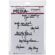 "Ranger Dina Wakley Media Cling Stamps, 6"" x 9"", Handwritten Quotes"