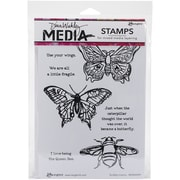 "Ranger Dina Wakley Media Cling Stamps, 6"" x 9"", Scribbly Insects"