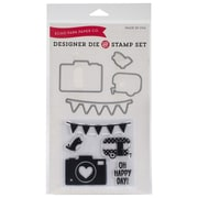 Echo Park Paper Stamp Set, 3 x 4, Oh Happy Day