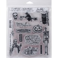 Stampers Anonymous Tim Holtz Cling Rubber Stamp Set, 7in. x 8 1/2in., Mini Halloween #4