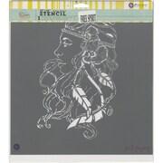 """Prima Marketing Bloom Stencil, 12"""" x 12"""", Free Spirit"""