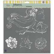 "Prima Marketing Bloom Stencil, 12"" x 12"", Gardenia"