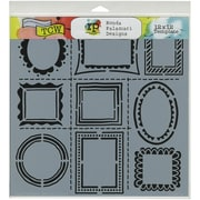 "Crafters Workshop Doodling Template, 12"" x 12"", Hand Drawn Frames"