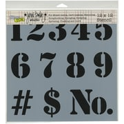 "Crafters Workshop Doodling Template, 12"" x 12"", Number"