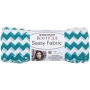 Coats Yarn Red Heart® Boutique Sassy Fabric Yarn, Teal Chevron
