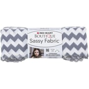 Coats Yarn Red Heart® Boutique Sassy Fabric Yarn, Gray Chevron