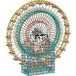 K'NEX Plastic Thrill Rides 6 Foot Ferris Wheel Building Set 72in. x 24in.