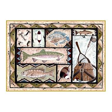 Custom Printed Rugs Wildlife Fishing Novelty Outdoor Area Rug; 37'' x 52'' x 0.125''