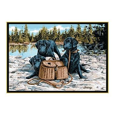 Custom Printed Rugs Wildlife Gone Fishing Novelty Outdoor Area Rug; 3'1'' x 4'4''