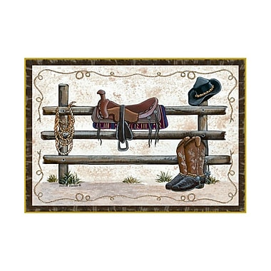 Custom Printed Rugs Home Accents Western Area Rug; 3' x 4'4''