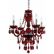 AF Lighting Fashion Mini Chandelier; Red