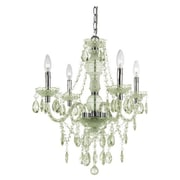 AF Lighting Fashion Mini Chandelier; Green