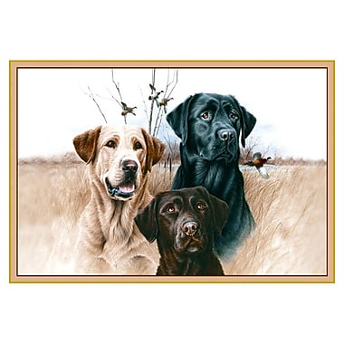 Custom Printed Rugs Wildlife Great Hunting Dogs Novelty Outdoor Area Rug; 37'' x 52'' x 0.125''