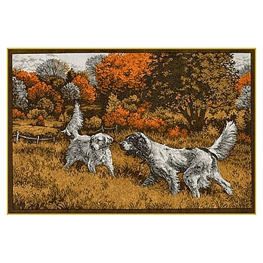 Custom Printed Rugs Wildlife Setters Novelty Outdoor Area Rug; 37'' x 52'' x 0.125''