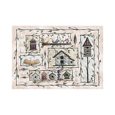 Custom Printed Rugs Home Accents Bird Houses Beige Area Rug; 3'1'' x 4'4''