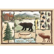 Custom Printed Rugs Home Accents Cabin Area Rug; 37'' x 52'' x 0.125''