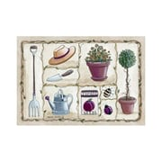 Custom Printed Rugs Home Accents Gardening Area Rug; 37'' x 52'' x 0.125''