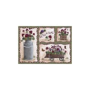 Custom Printed Rugs Home Accents Geraniums Area Rug; 37'' x 52'' x 0.125''