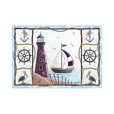 Custom Printed Rugs Home Accents Lighthouse Area Rug; 37'' x 52'' x 0.125''