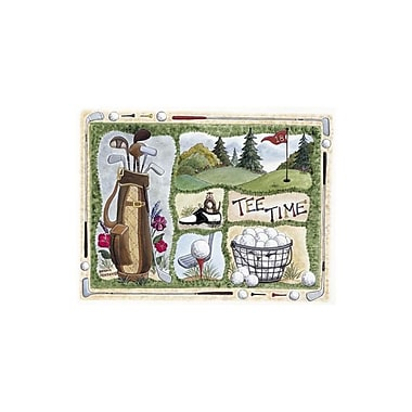 Custom Printed Rugs Home Accents Tee Time Area Rug; 3'1'' x 4'4''