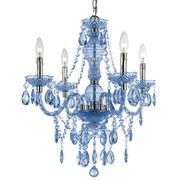 AF Lighting Fashion Mini Chandelier; Blue