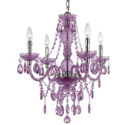 AF Lighting Fashion Mini Chandelier; Purple