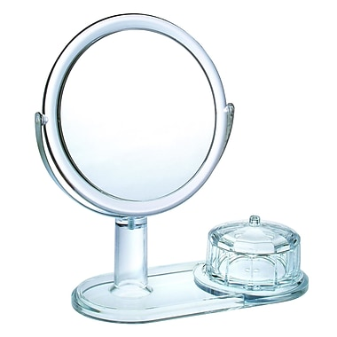 Chenco Inc. Magnifying Mirror w/ Faceted Jewelry Box