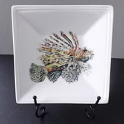 Kim Rody Creations Something Fishy Lionfish From Atlantis Square Condiment Server