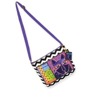 Laurel Burch® Crossbody Bag With Zipper Top, Whiskered Cats